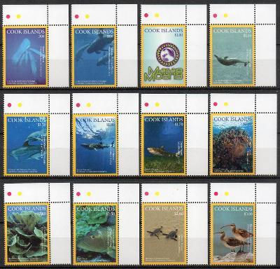 Cookovy ostrovy-Mořská fauna-NG  2016**  Mi.2093-2104 / 36 €