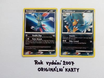 Sběratelská karetní hra Pokémon - 2ks (RARITA) - 2007!!