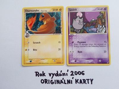 Sběratelská karetní hra Pokémon - 2ks (RARITA) - 2006!!