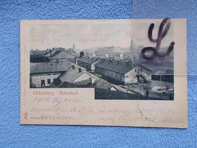 Karviná Starý Bohumín Oderberg ulice nádraží  Bogumin dworzec kolejowy
