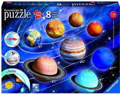 3D puzzle - planety