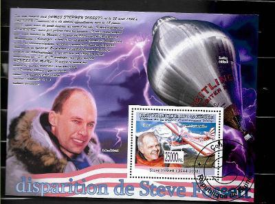 GUINEA - Steve Fossett, Bertrand Piccard, letadlo, balob, Mont Everest