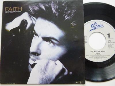 Hit SP GEORGE MICHAEL - Faith / Hand To Mouth 1987 Epic perfekt stav