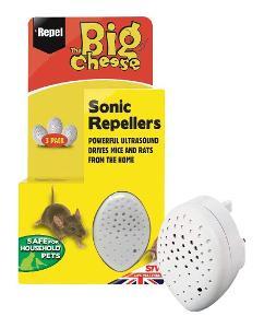 3x Odpuzovač hlodavců ultrazvukový myši The Big Cheese