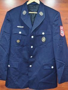 Německé hasičské sako, hasiči s odznaky