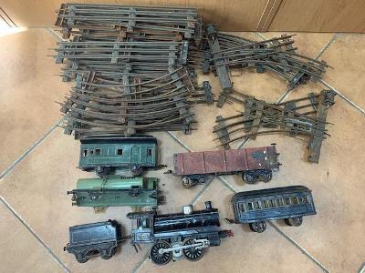 Plechové Vláčky, lokomotiva a koleje- Retro, VY1202