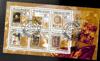 GUINEA - známka na známce -umění- Peter Paul Rubens