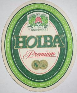 Pivní tácek - Hanušovice Holba Premium