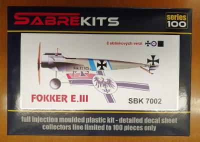 Sabrekits/Eduard  Fokker E.III 1/72