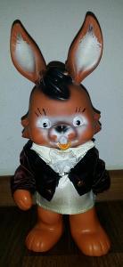 raritka - krásná značená pískací gumová hračka *králík *22cm