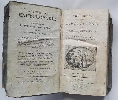 vzácný lékařský kniha r. 1805 /EX libris František Salesiánský Pluskal