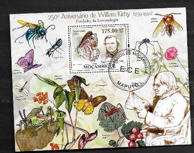 Mosambik 2009-Wiliam Kirby - motýli, včely, cvrček, vážka, pavouk.....