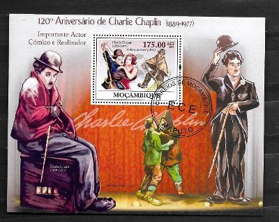 Mosambik 2009 - Charlie Chaplin, film Zlatá horečka