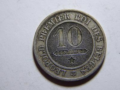 Belgie F. legenda 10 Centimes 1862 XF-UNC č21073
