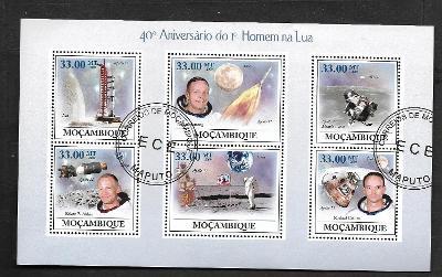 Mosambik 2009-Kosmos- Neil Armstrong, Aldrin,Collins, Apollo 11, Eagle