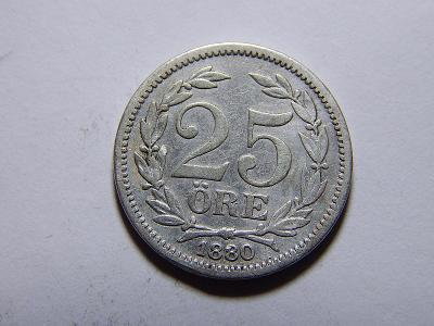 Švédsko 25 Öre 1880EB XF č20885