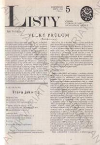 Listy roč. XIX. 1989 č.5. řídí Jiří Pelikán