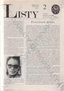 Listy roč. XIX. 1989 č.2. řídí Jiří Pelikán