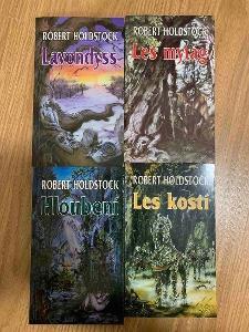 Robert Holdstock serie knih s podpisy autora RARITA!!!