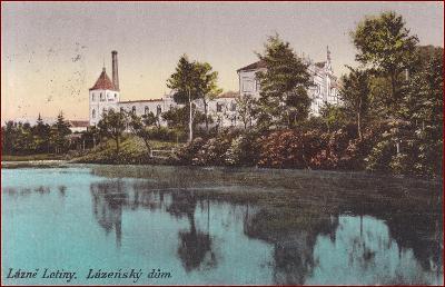 Lázně Letiny * pohled na lázeňský dům * Plzeň jih * M550