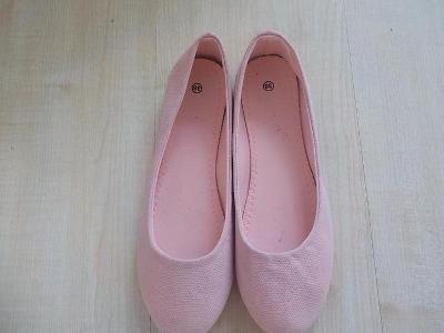Krasne jemně ružove balerinky vel 38