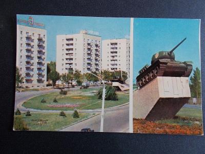 II. světová válka památník Tank Rostov na Donu Sovětský Svaz 1973