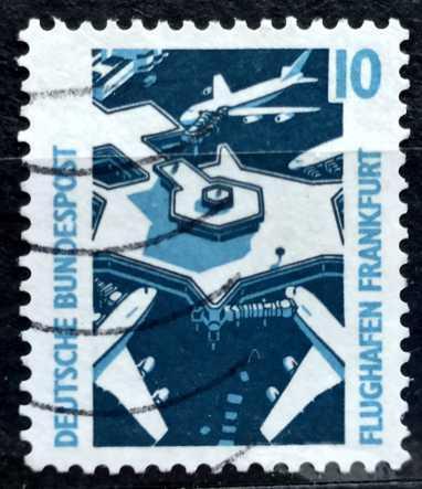 BUNDESPOST: MiNr.1531 Frankfurt Airport 10pf 1991