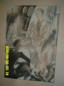 RICHARD LANDER Akvarel