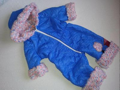 Zimní kombinéza s kožíškem vel. 74