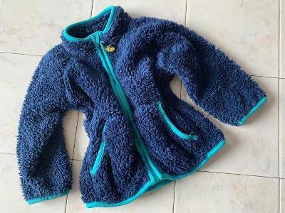 Modrá huňatá bunda ERGEE vel. 80