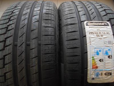 pneu 235 45r18 letní Continental PremiumContact 6 VOL  98W 2kusy NOVÉ