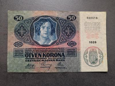 50 korun 1914,stav 1