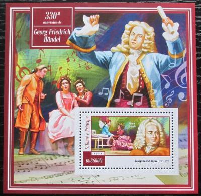 Svatý Tomáš 2015 Georg Friedrich Händel Mi# Block 1053 Kat 8.50€ 1529