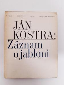 -- J.KOSTRA- ZÁZNAM O JABLONI- 1987 --