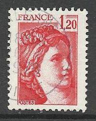Francie razítkované, r. 1978, Mi.2106 A