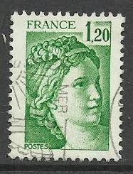 Francie razítkované, r. 1980, Mi.2215 A