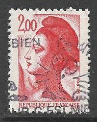 Francie razítkované, r. 1983, Mi.2401 A