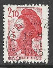Francie razítkované, r. 1984, Mi.2455 A