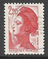 Francie razítkované, r. 1985, Mi.2510 A