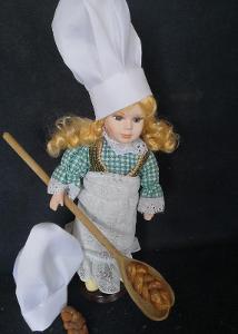 Krásná, porcelánová panenka na stojanu...(11959)