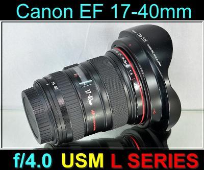 💥 Canon EF 17-40mm f/4L USM **širokoúhlý zoom,1:4, řady L** TOP👍
