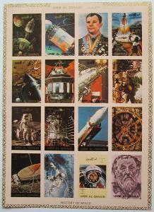 Umm al-Kuvajn 1972 Prúzkum vesmíru neperf. Mi# 1066-81 B Kat 25€ 1586