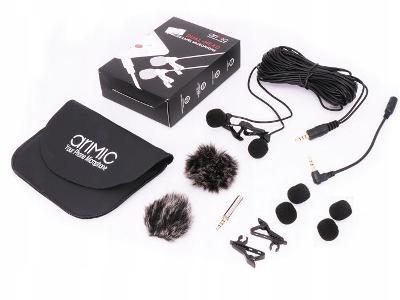 2x kondenzátorový mikrofon s klipem / mini jackem 3,5 mm 6 m - Ulanzi