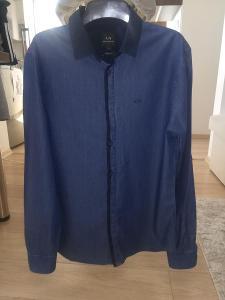 Pánská tmavě modrá košile Armani Exchange, velikost S.
