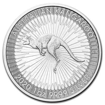 stříbrné mince Nugget Kangaroo 1 oz 999,9/1000 v kapsičce