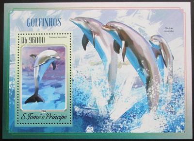 Svatý Tomáš 2014 Delfíni Mi# Block 1038 Kat 10€ 0810