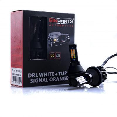 PY21W LED žárovky 30W (20 x SMD 3030) 6000K/oranžová CANBUS DRL+Blinkr