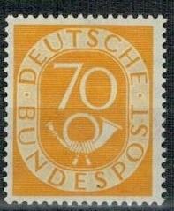 Německo BRD SRN 1951 známka Mi 136 ** poštovní trubka