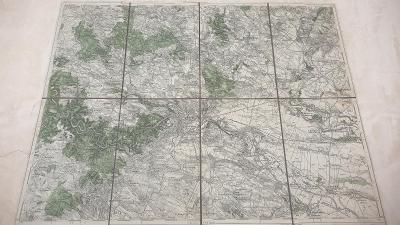 Stará vojenská mapa 1930-Znojmo-Dunajovice-Prosiměřice-Mikulovice