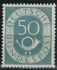 Německo BRD SRN 1951 známka Mi 134 ** poštovní trubka